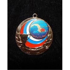 Медаль с вставкой, цветное нанесение (Образец  ) 50 мм
