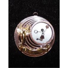 """Медаль """"Черлидинг"""" с цветным вкладышем"""
